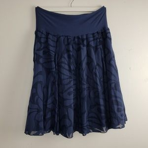 J CREW Navy Lined A-Line Skirt
